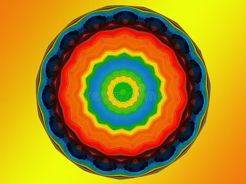 Chakra Mandala stockfoto
