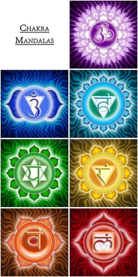 Chakra Mandalas royalty-vrije illustratie