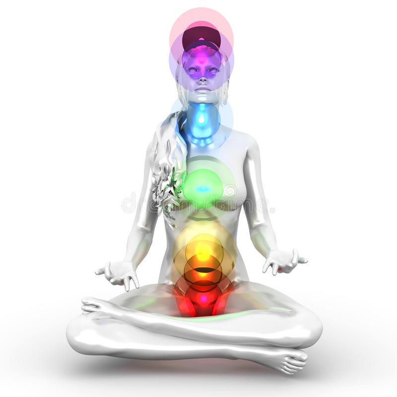 Chakra Meditation royalty free illustration