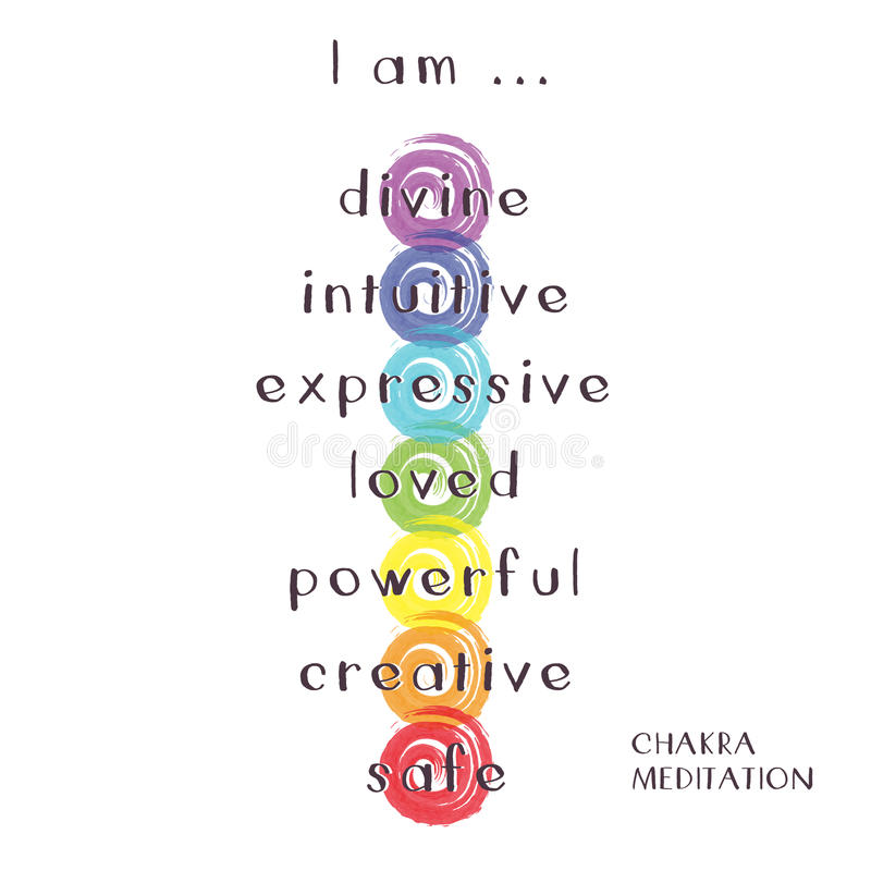 Chakra Meditation royalty free illustration