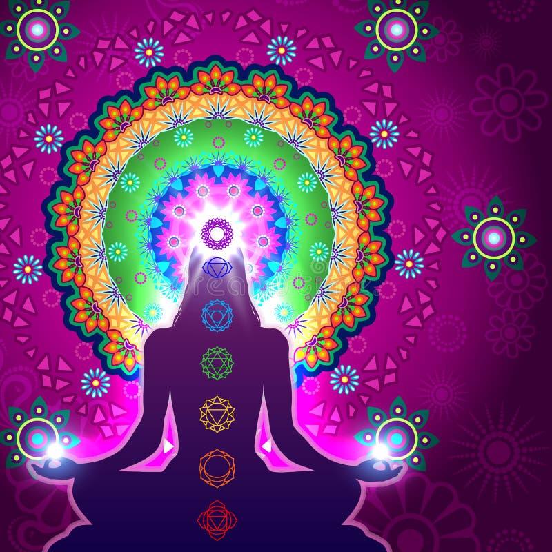Chakra-Meditations-Mandala stockfoto