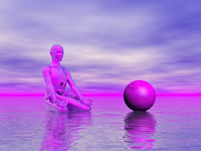 Chakra purple vector illustration