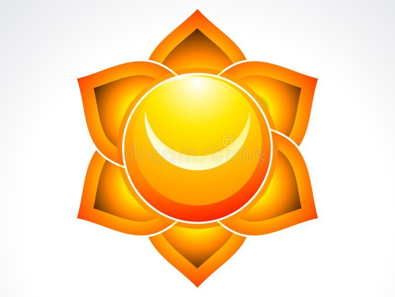 Chakra sacré abstrait illustration de vecteur