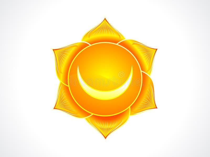Chakra sacré détaillé illustration de vecteur
