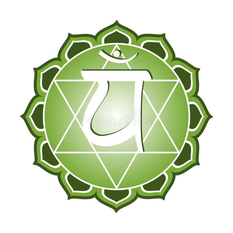 Chakra Series: Anahata. Or heart chakra symbol royalty free illustration