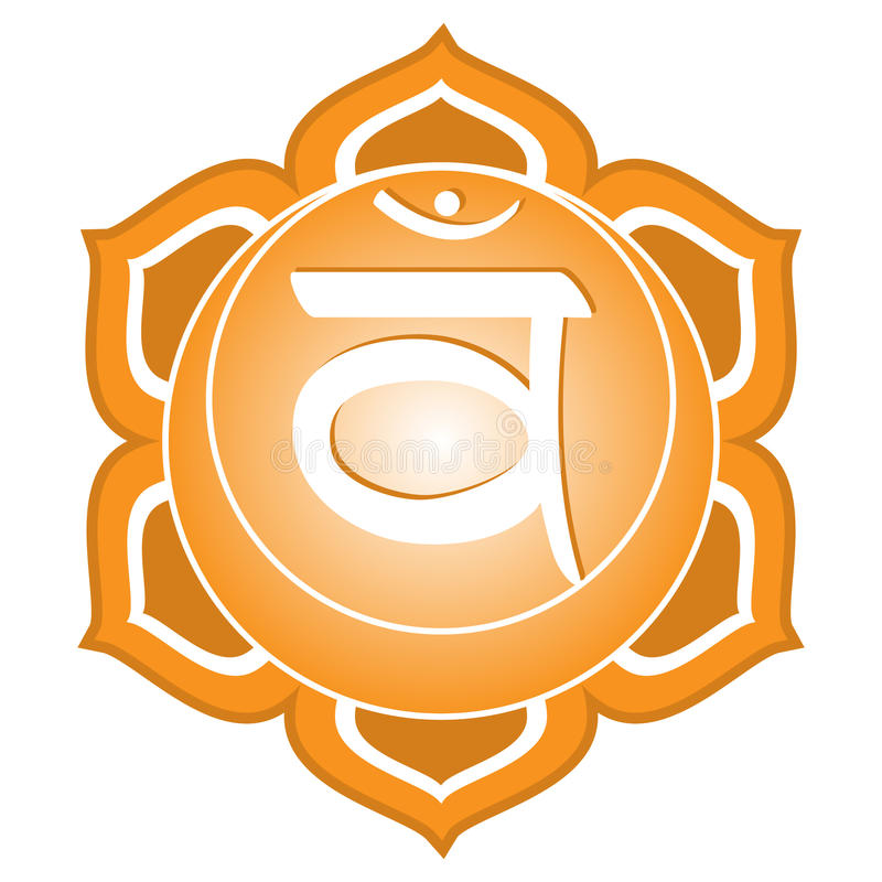 Chakra Series: Swadhisthana. Or sacral chakra symbol royalty free illustration