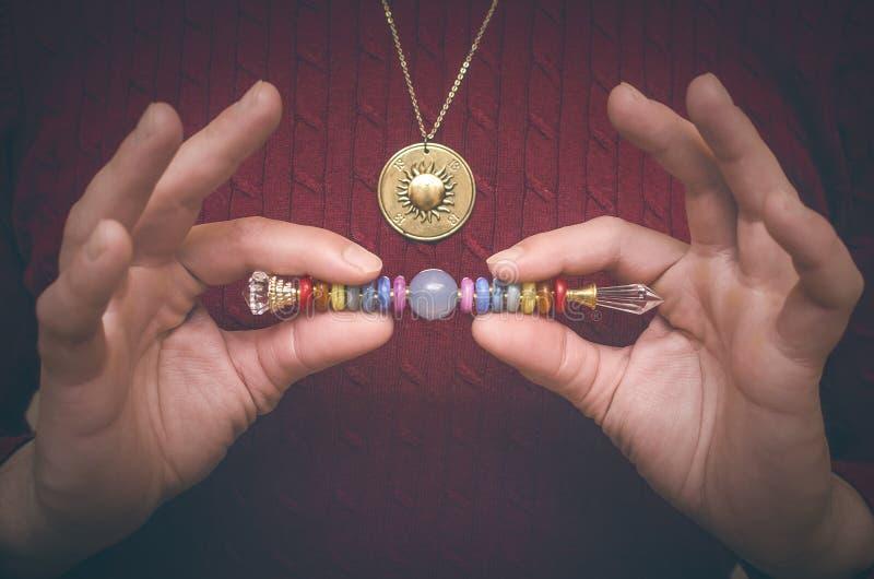 Chakra Spira av 7 chakras arkivfoto