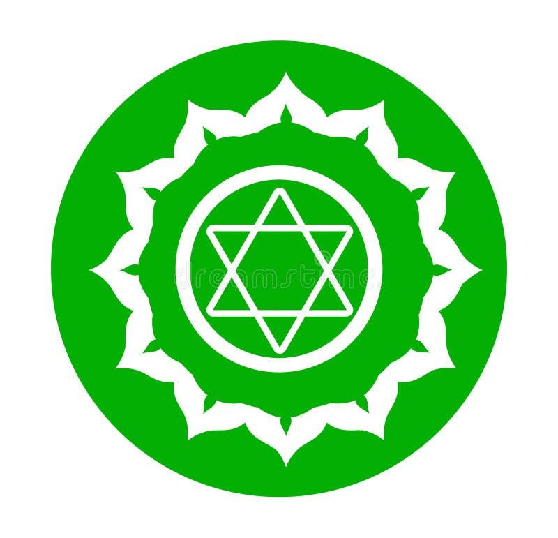 Chakra symbol royalty free illustration