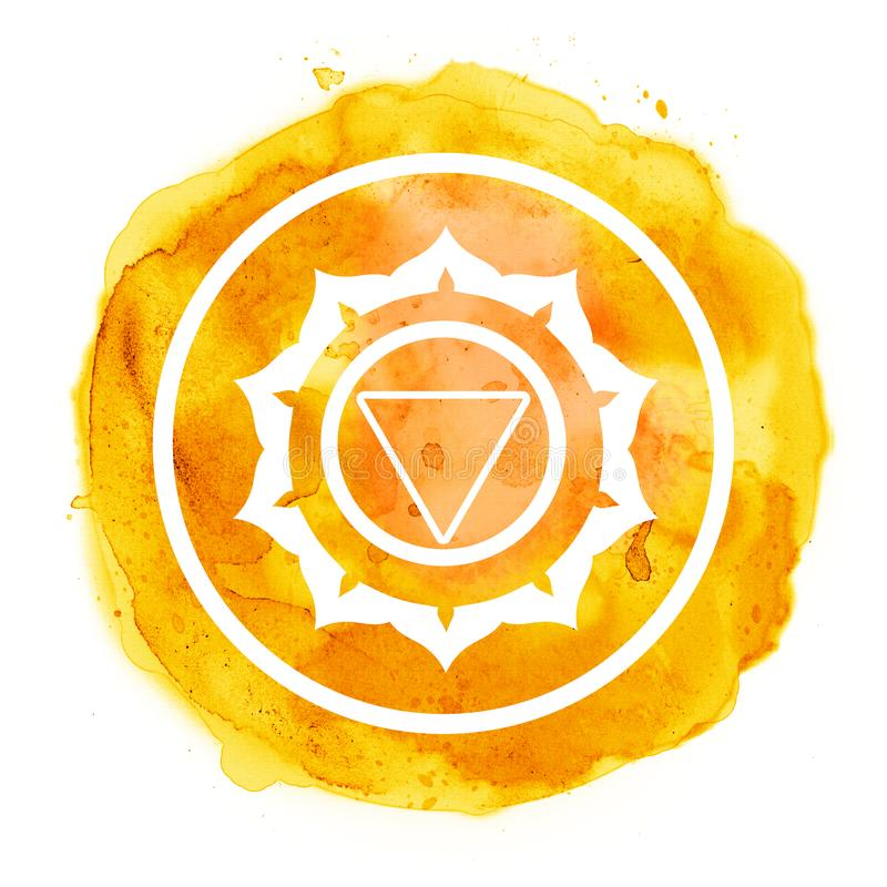 Chakra symbol royalty free illustration