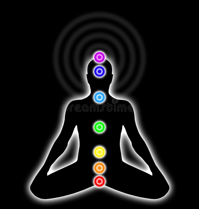 chakras тела иллюстрация вектора