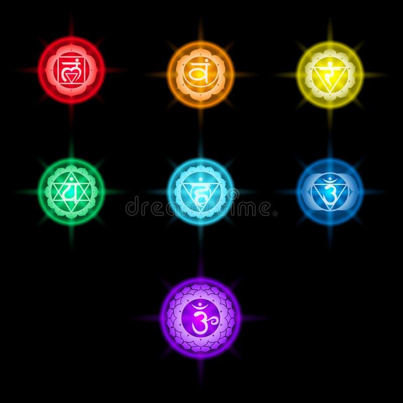 Download Chakras ilustración del vector. Ilustración de meditación - 44858317