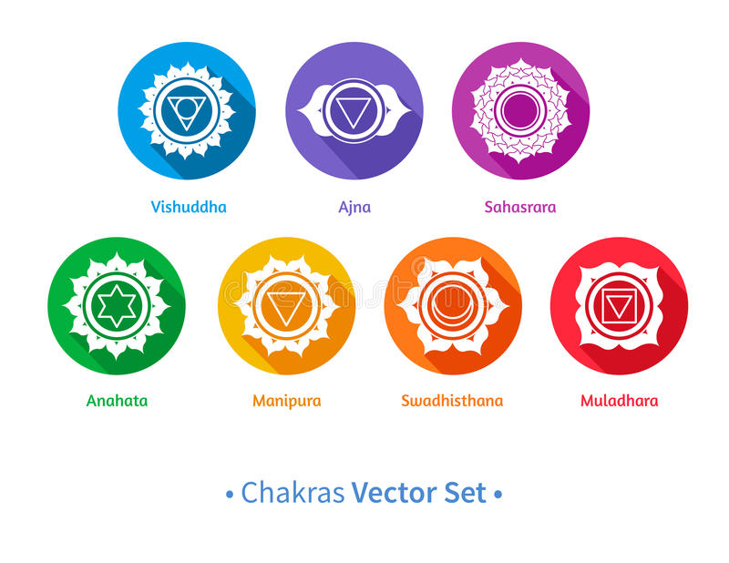 Chakras vector illustratie