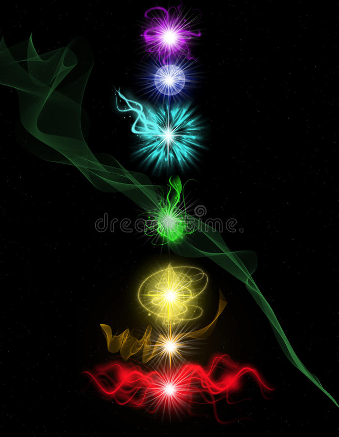 Chakras vektor illustrationer