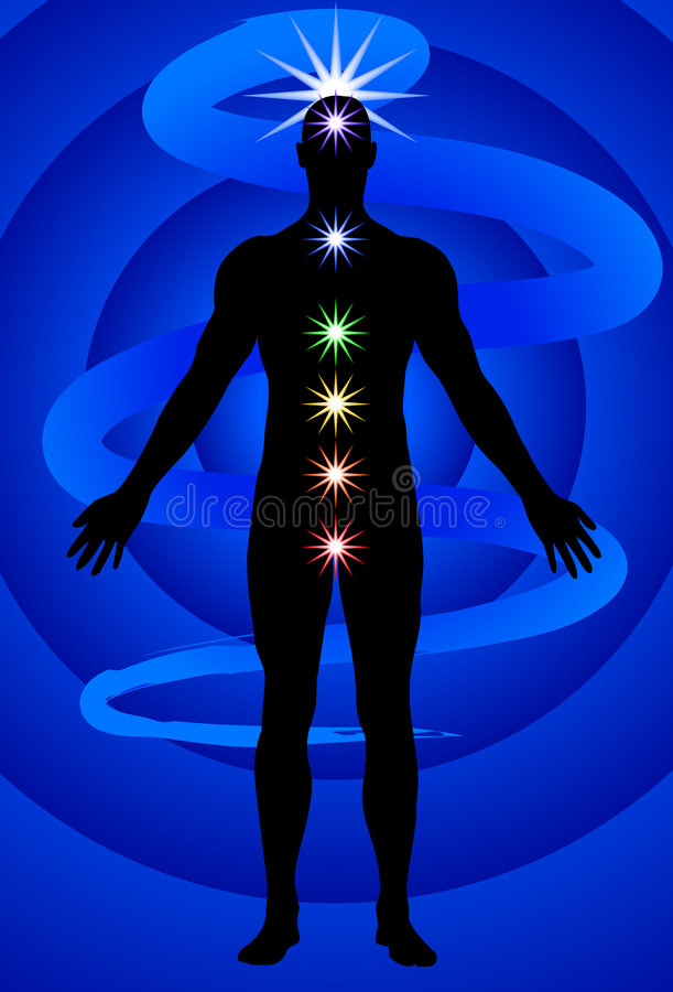 Chakras stock illustration