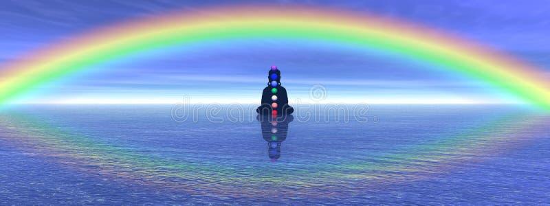 Chakras dans la méditation illustration de vecteur
