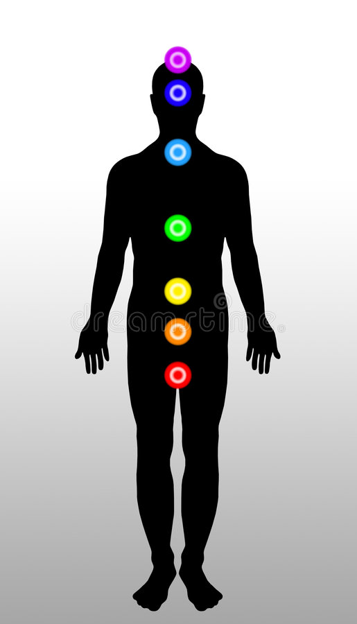 Chakras de fuselage illustration stock