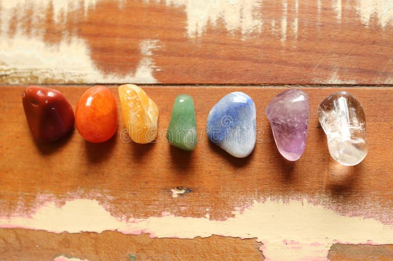 Chakras Stones to heal. Mind, soul. It energyzes us deeply royalty free stock photography