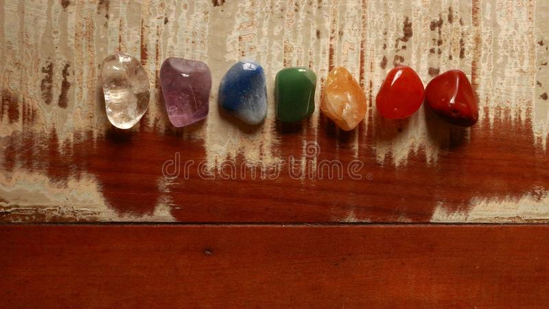 Chakras Stones to heal. Mind, soul. It energyzes us deeply stock images