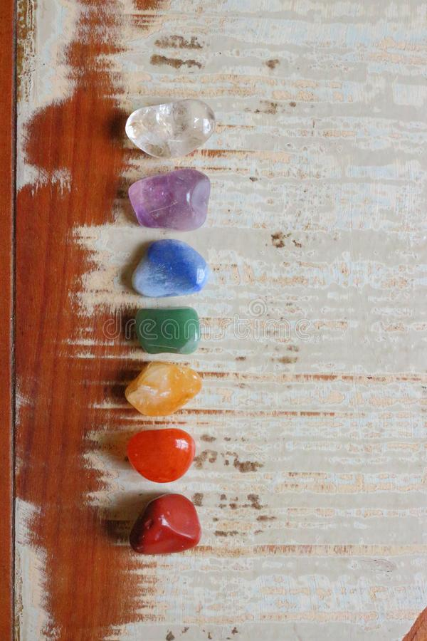 Chakras Stones to heal, cure. Chakras Stones to heal mind, soul. It energyzes us deeply royalty free stock photo