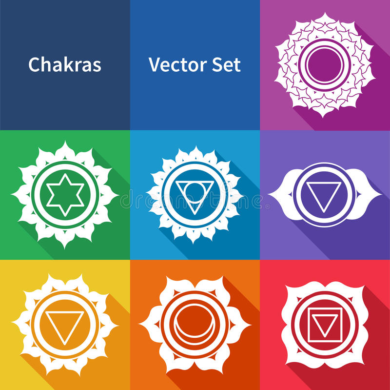 Chakras royalty free illustration