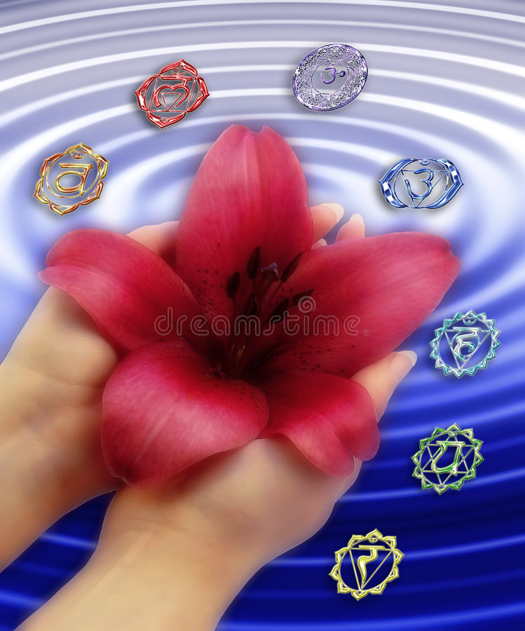 Free Chakras With Lily Royalty Free Stock Photography - 716687