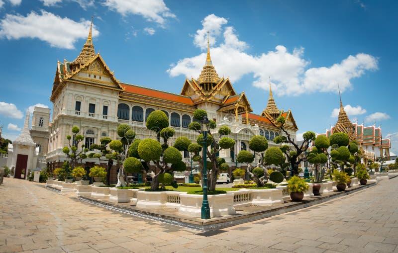 Chakri玛哈Prasat在曼谷盛大宫殿 免版税库存照片
