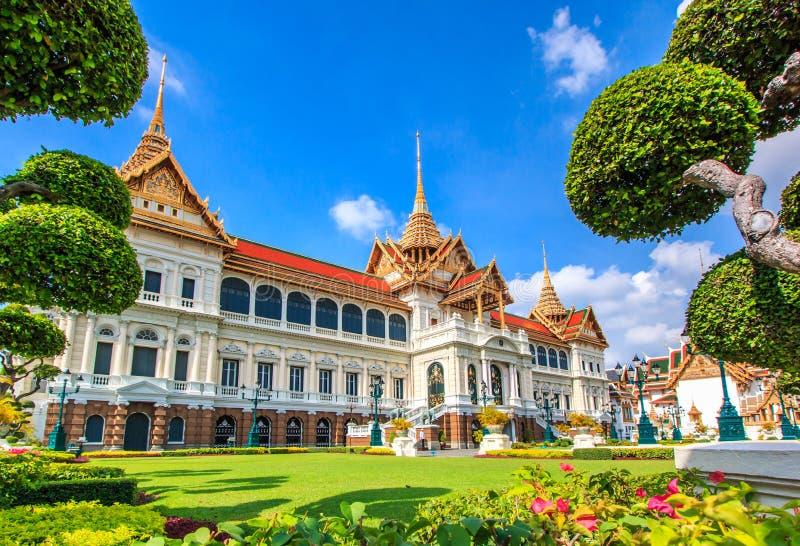 Chakri玛哈Prasat或皇家盛大宫殿 免版税库存照片