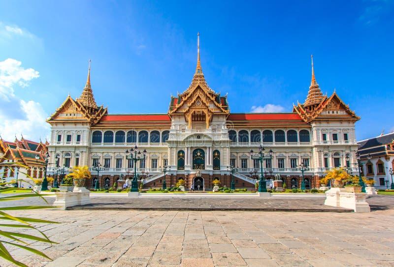 Chakri玛哈Prasat或皇家盛大宫殿 免版税图库摄影