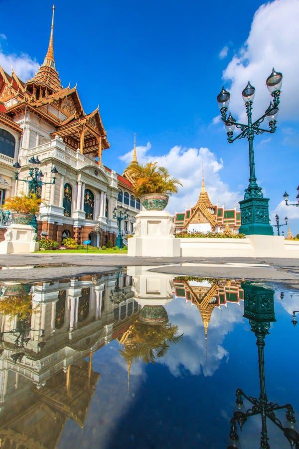 Chakri玛哈Prasat或皇家盛大宫殿 图库摄影