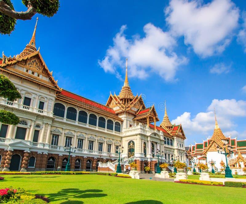 Chakri玛哈Prasat或盛大宫殿 免版税图库摄影