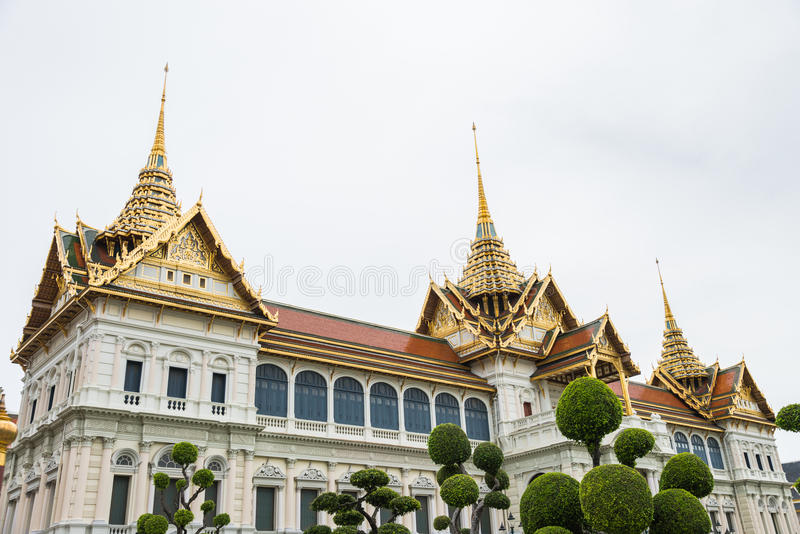 The Chakri Maha Prasat throne Hall is the middle court of Grand Palace in Bangkok Thailand royalty free stock image