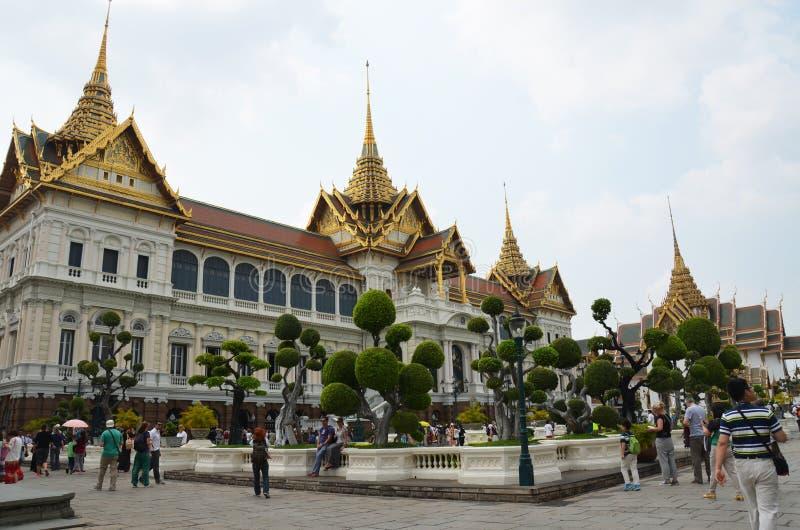 The Chakri Maha Prasat Throne inside the Grand Palace royalty free stock photos