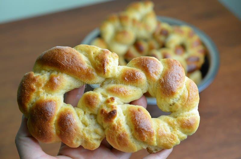 Chalá cozido fresco, pão trançado imagem de stock royalty free
