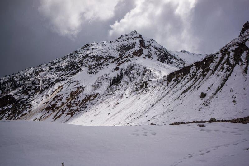 Chalaadi Glacier mountain chain royalty free stock photo