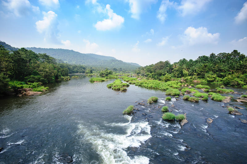Chalakudy flod arkivbild