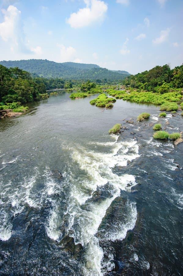Chalakudy flod arkivbilder