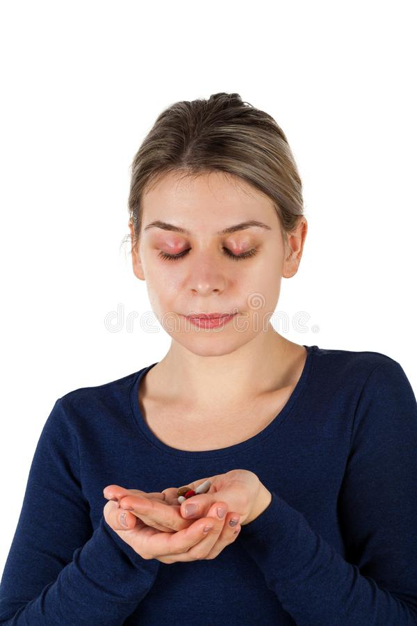 Chalazion - infection de paupière images stock