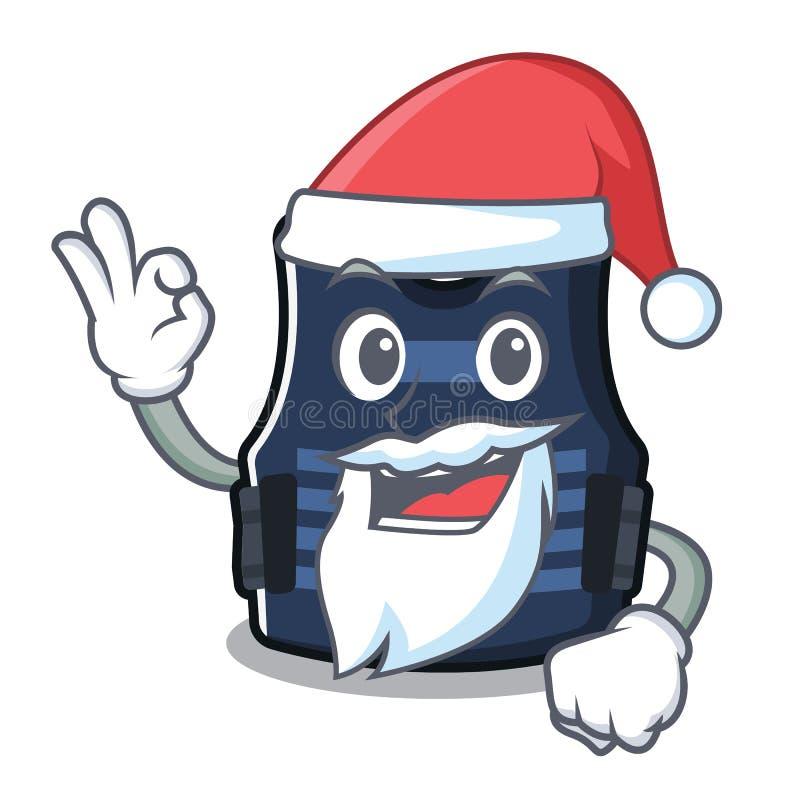Chaleco del bulletprof de Papá Noel almacenado en armario de la historieta ilustración del vector