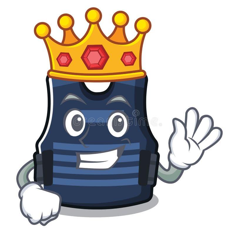 Chaleco del bulletprof del rey almacenado en armario de la historieta libre illustration