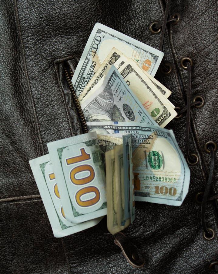Chaleco del dinero foto de archivo libre de regalías
