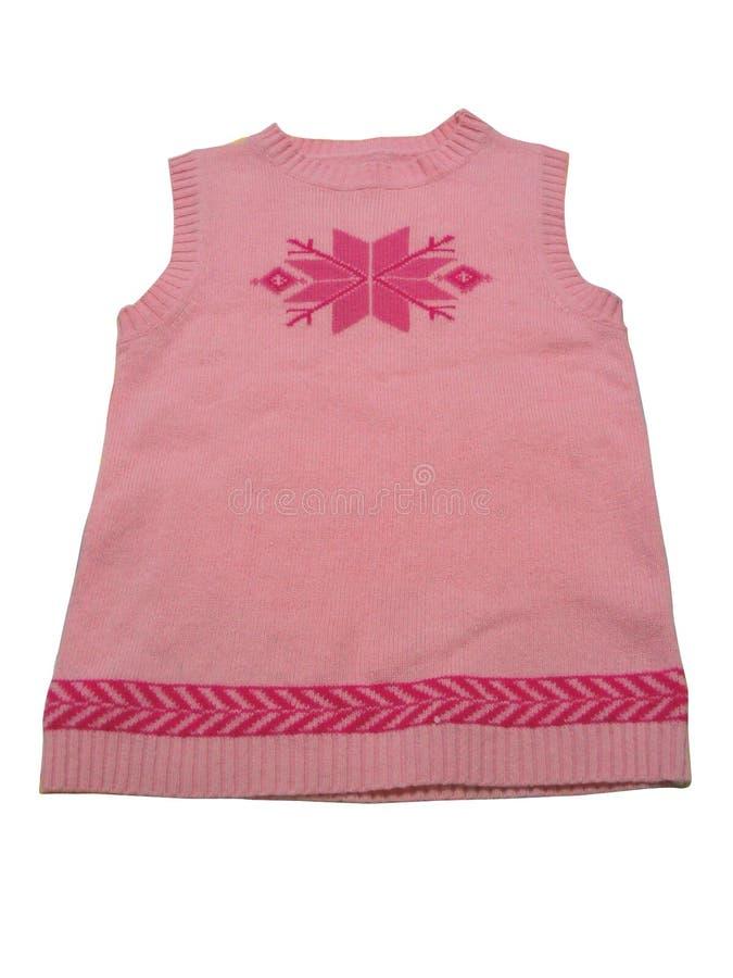 Chaleco rosado (aislado) imagen de archivo libre de regalías