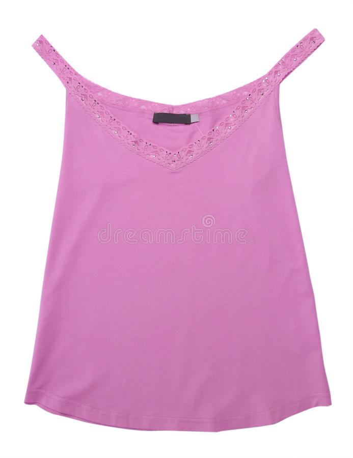 Chaleco rosado de la camisa de la blusa del cordón foto de archivo