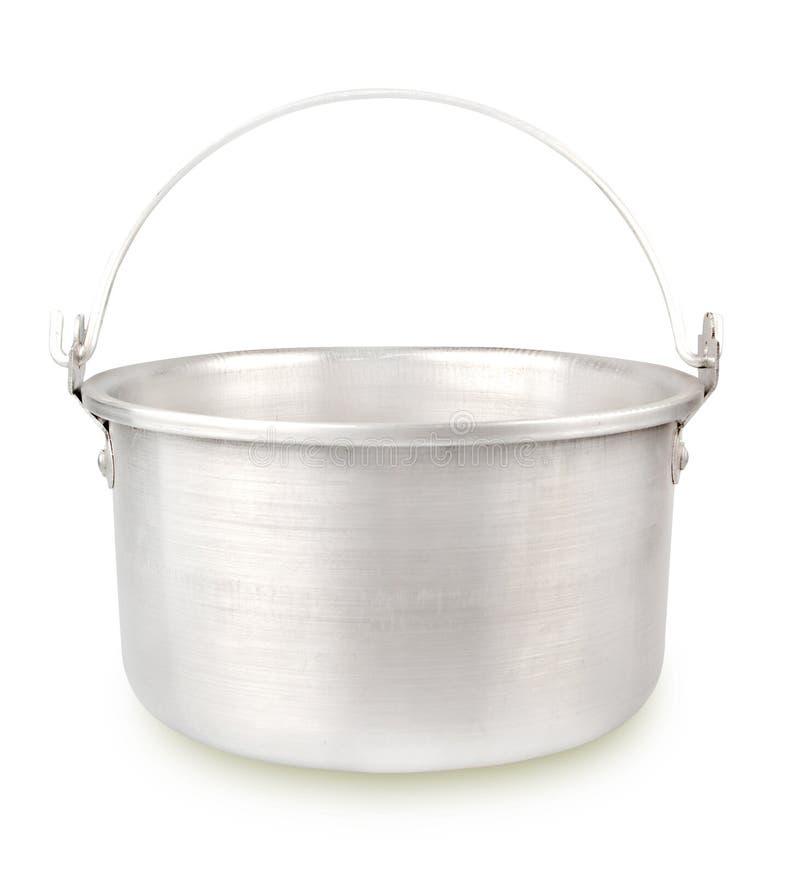 Chaleira de alumínio imagem de stock