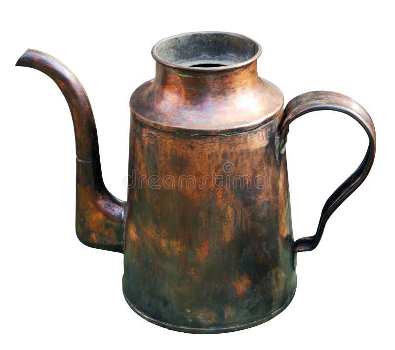 Chaleira de bronze velha imagens de stock