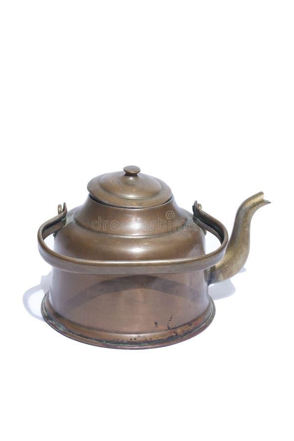 Chaleira de cobre Antic imagem de stock