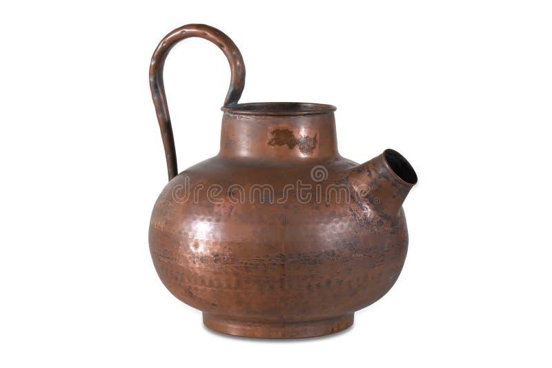 Chaleira de cobre velha foto de stock royalty free