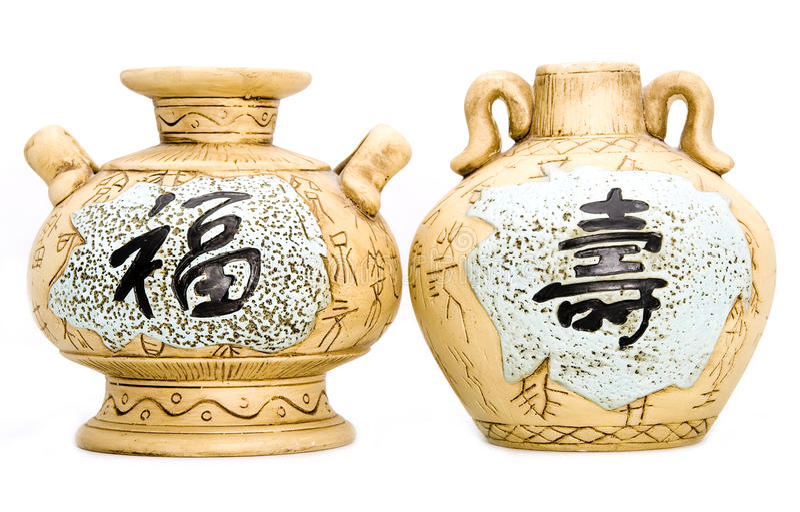Chaleiras de chá orientais imagem de stock royalty free
