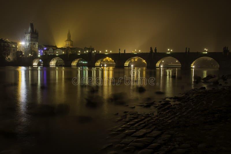 Chales桥梁,布拉格 图库摄影