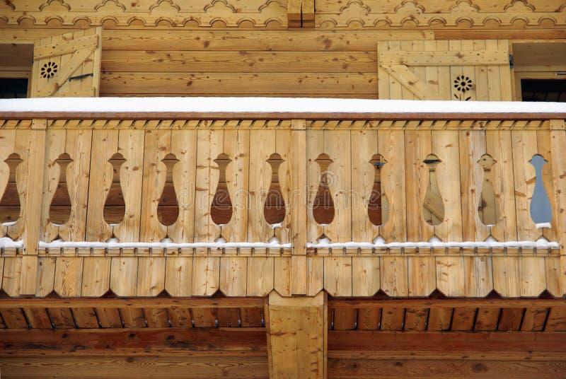 chalet балкона стоковое фото rf