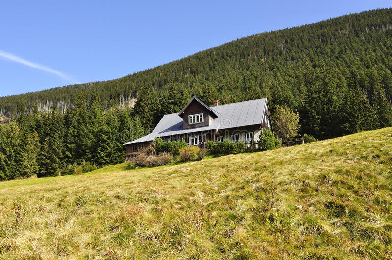 Chalet. In the national park Krkonose Czech royalty free stock photos